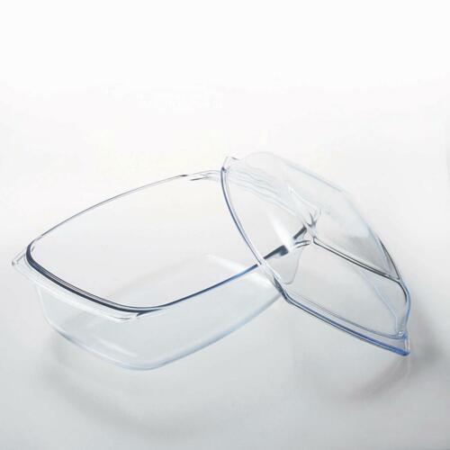 XXL Glasbräter 7,0 L mit Deckel Auflaufform Glaskochgeschirr Ofenform Made in EU