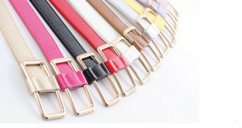 Women/'s Girl/'s fashion casual metal buckle thin belts waist band cummerbund
