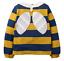 miniatuur 4 - Mini Boden Girls Bee/Ladybird Long Sleeves Top T-shirt Frill 3D Applique Stripe