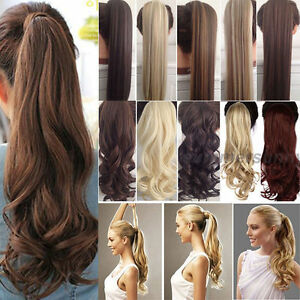 Long clawwrap aroundtie up ponytail clip in on pony tail hair image is loading long claw wrap around tie up ponytail clip pmusecretfo Choice Image
