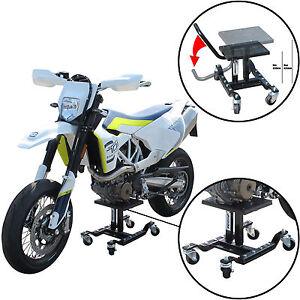 Tech7 Motocross Bike Lift Stand On Wheels For Dirt Enduro