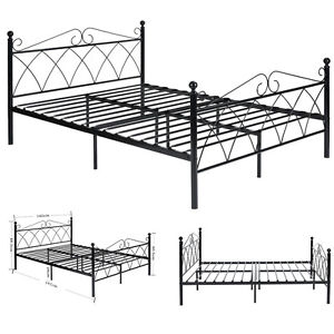 image is loading twin full sizes metal bed frame headboard footboard - Metal Bed Frame With Headboard