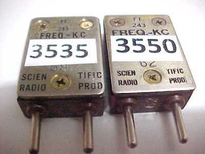 20 METER HAM RADIO FT-243 CRYSTALS FOR THE OLD VACUUM TUBE BOATANCHOR XMTRS