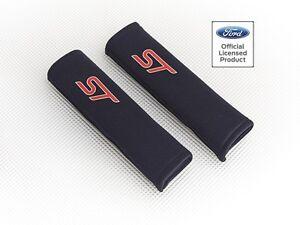Richbrook-039-Licensed-039-Ford-ST-Logo-Seat-Belt-Shoulder-Pads-BLACK-Padded-Harness