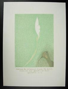 BENN-1905-1989-Kunstblatt-c1970-Mark-Lithographie-Prophet-stieg-IV-6-Bibel
