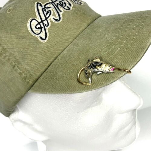 Striped Bass  Hookit®️ By Off The Hook Jeweler©️ Striped Bass fish hat hook