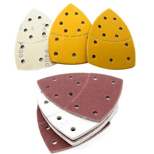 Sanding Sheets Sandpaper Pads 11 Hole 152 x 105mm Hook and Loop