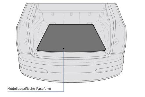 2-teilige Kofferraummatte Ladekantenschutz für Audi Q3 Typ F3 ab Bj 2018