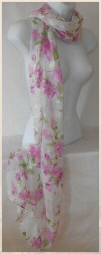 Scarf,Scarves,100/% Silk,Floral,Pink..100/% Silk Floral Slight Shimmer Scarf 013