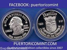 Silver PESETA HATILLO 2009 Puerto Rico Boricua Quarter 1/100 Plata