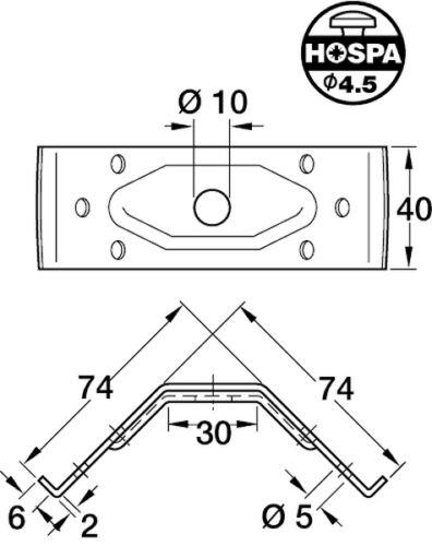 4x Brackets Small 40mm Brace for Table Legs Furniture Table Corner Bracket Set