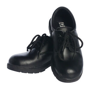 Boys Black Leather Dress Shoes Lace Up
