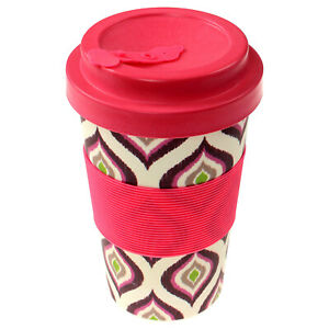 350ml-Reusable-Bamboo-Fibre-Ecoffee-Cups-Hot-Tea-Coffee-Mugs-Pink-Eco-Travel-Mug