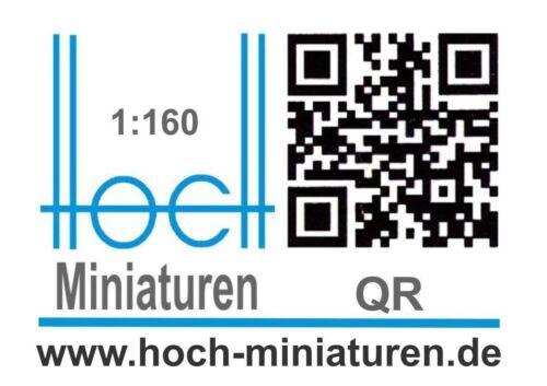 Hoch Miniaturen Spur N 1:160 THW MAN 15 to Wechsellader Multi 8x8 LKW