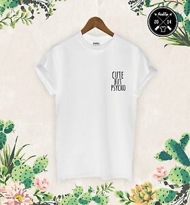 Cute-but-Psycho-AF-Pocket-Logo-T-Shirt-Top-Festival-Konzert-zoella-tumbrl-Dope
