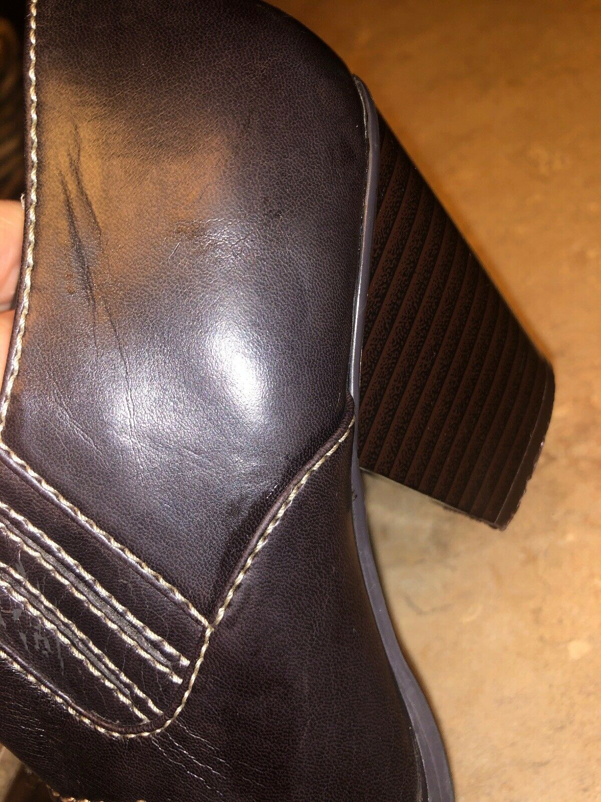 RAMPAGE Maura Closed Mules Cowboy Western Boot Sh… - image 7