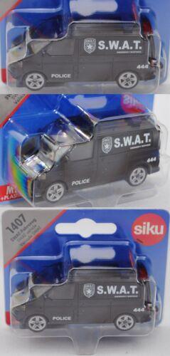 S.W.A.T.//Police Siku Super 1407 99900 VW t5 Facelift Multivan Bag-veicolo