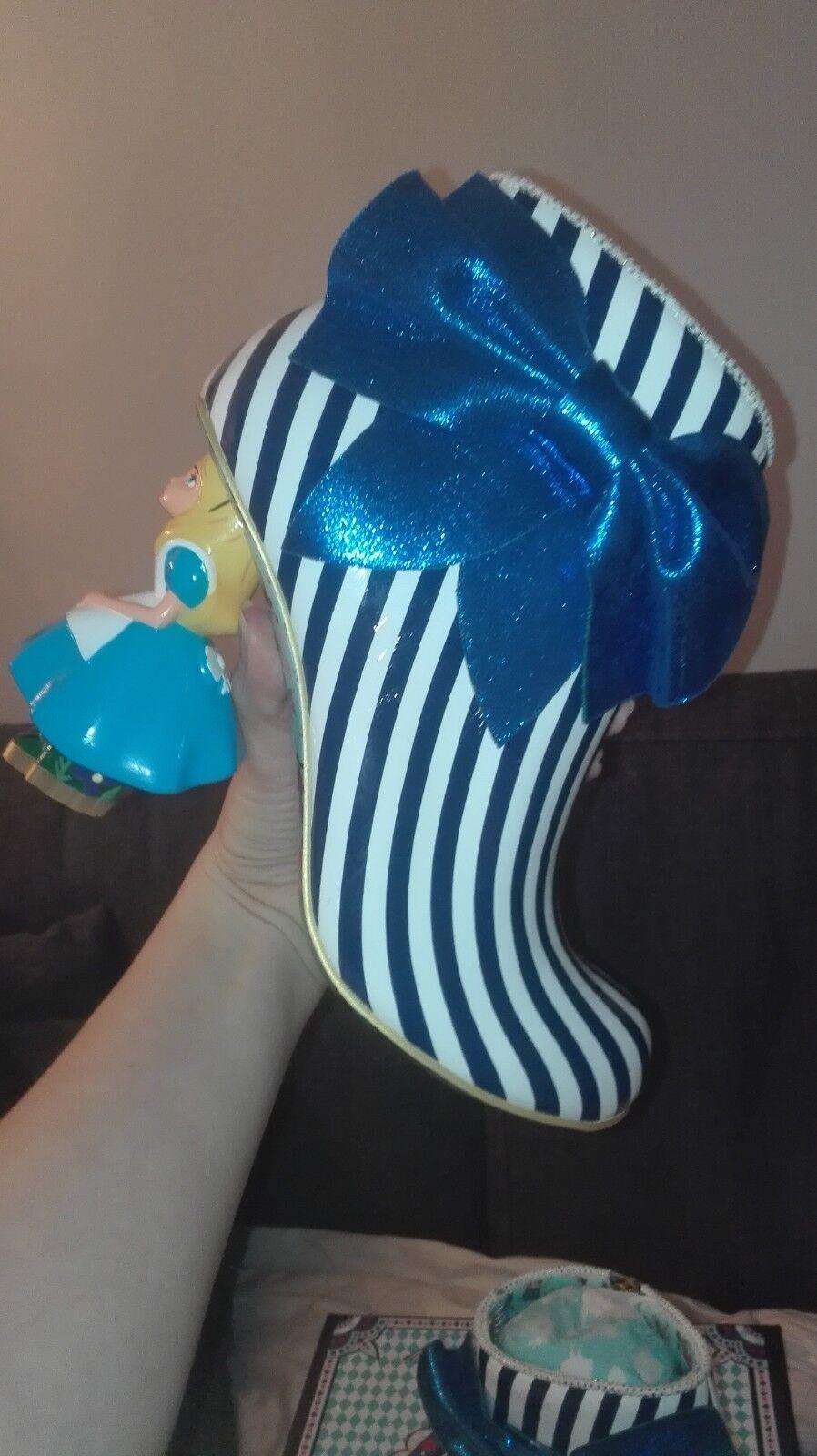 Irregular Choice, que en el el el mundo soy, Alice In Wonderlad zapatos talla uk5, eu38  autorización