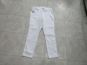 899e5923430bca NWT June & Daisy Womens Denim Capri Leggings-Color-White-Size-XXL ...