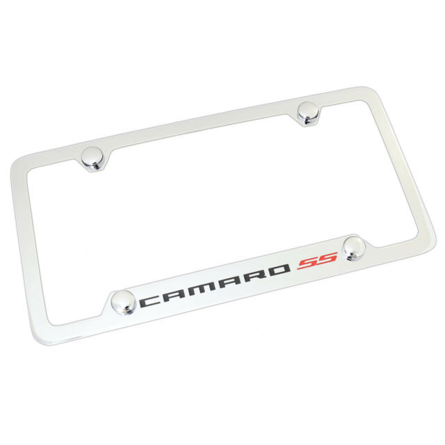 Chevrolet Camaro SS Bottom Chrome Plated Metal License Plate Frame 4 ...