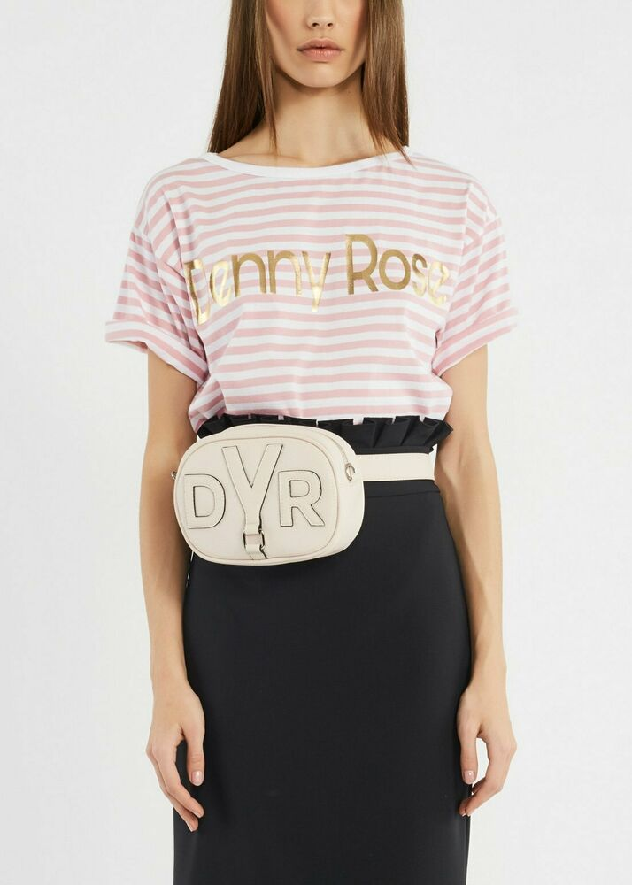 Saldi-60% T-shirt Righe Denny Rose Art.911dd60012 Tg.xs (40) Rosa Prim. 2019