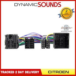 Voiture-Stereo-Iso-Perroquet-Harnais-en-T-Cable-Adaptateur-pour-Citroen