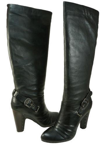 Frye para Mujer Mujer Mujer Bethany Con Tiras Negro Suave-Marrón Tirar-en Moda botas Altas Hasta La Rodilla  ahorrar en el despacho