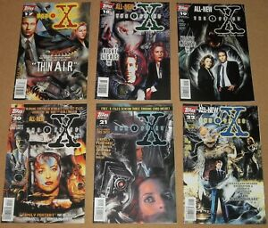 The-X-Files-1996-Topps-Comic-Book-Lot-of-six-17-18-19-20-21-22-David-Duchovny