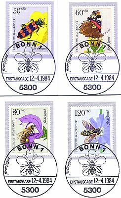 Verantwortlich Brd 1984: Bestäuberinsekten! Jugendmarken Nr. 1202-1205! Bonner Stempel! 1a! 156