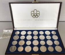 Canadian Olympic Silver Complete Coin Set Montreal 1976 28 Silver Pieces w/Case