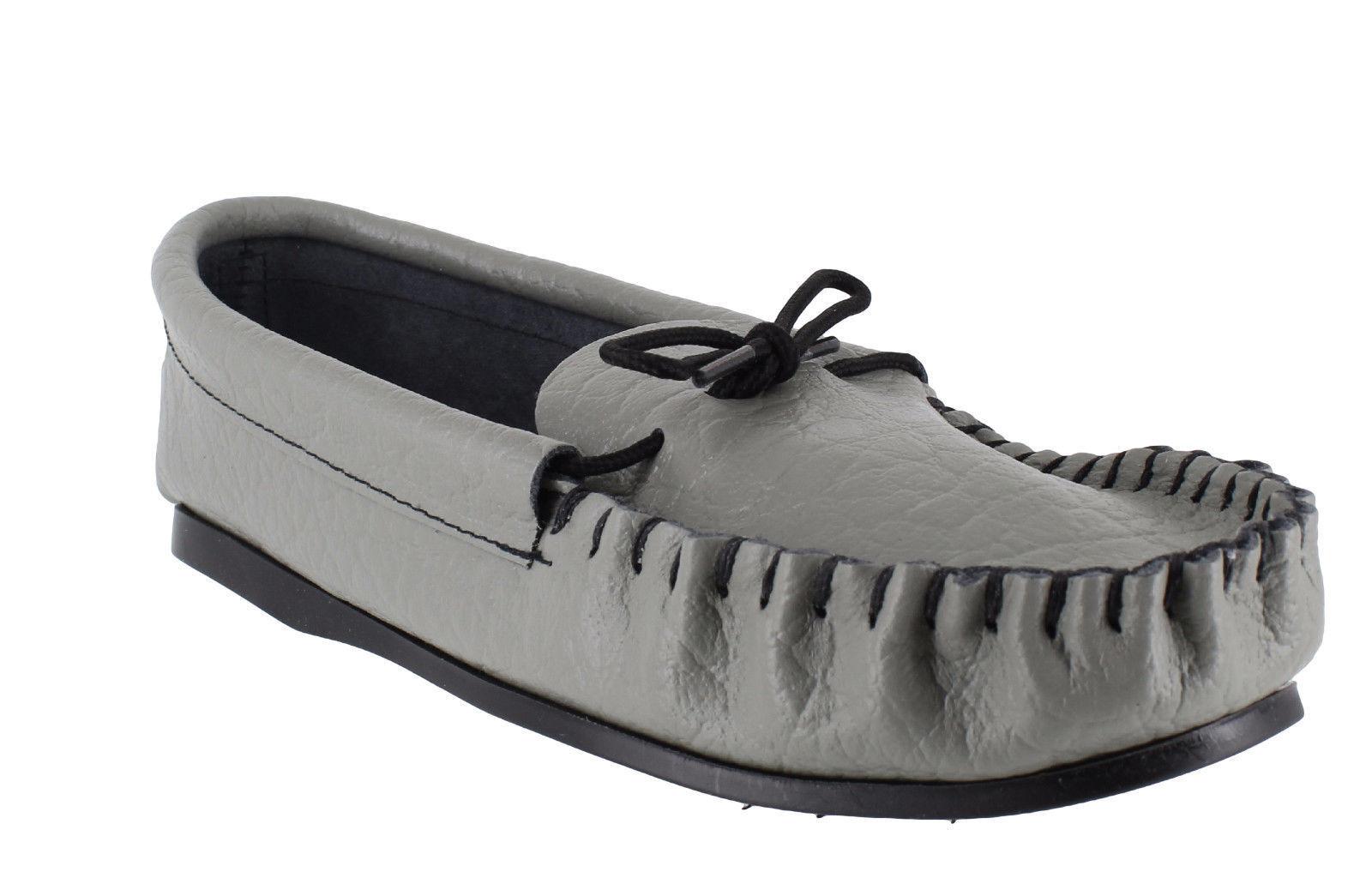 Británico Hecho Mocasines a mano Hombre Informal Cuero Gris Mocasines Hecho MOCCASINS Zapatillas 934c3f