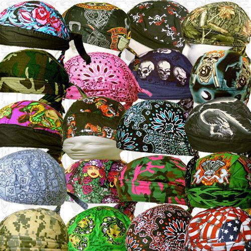 Do Head Du Rag Skull Biker Cap Hat Paisley Bandana Motorcycle Adult Lot Men Wrap