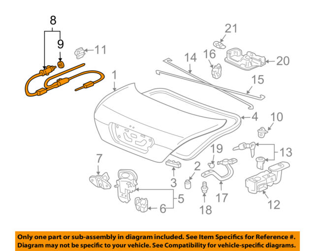 honda accord coupe 03 07 gas cap trunk lid release cable wire 74880 rh ebay com Wiring Diagram Symbols HVAC Wiring Diagrams