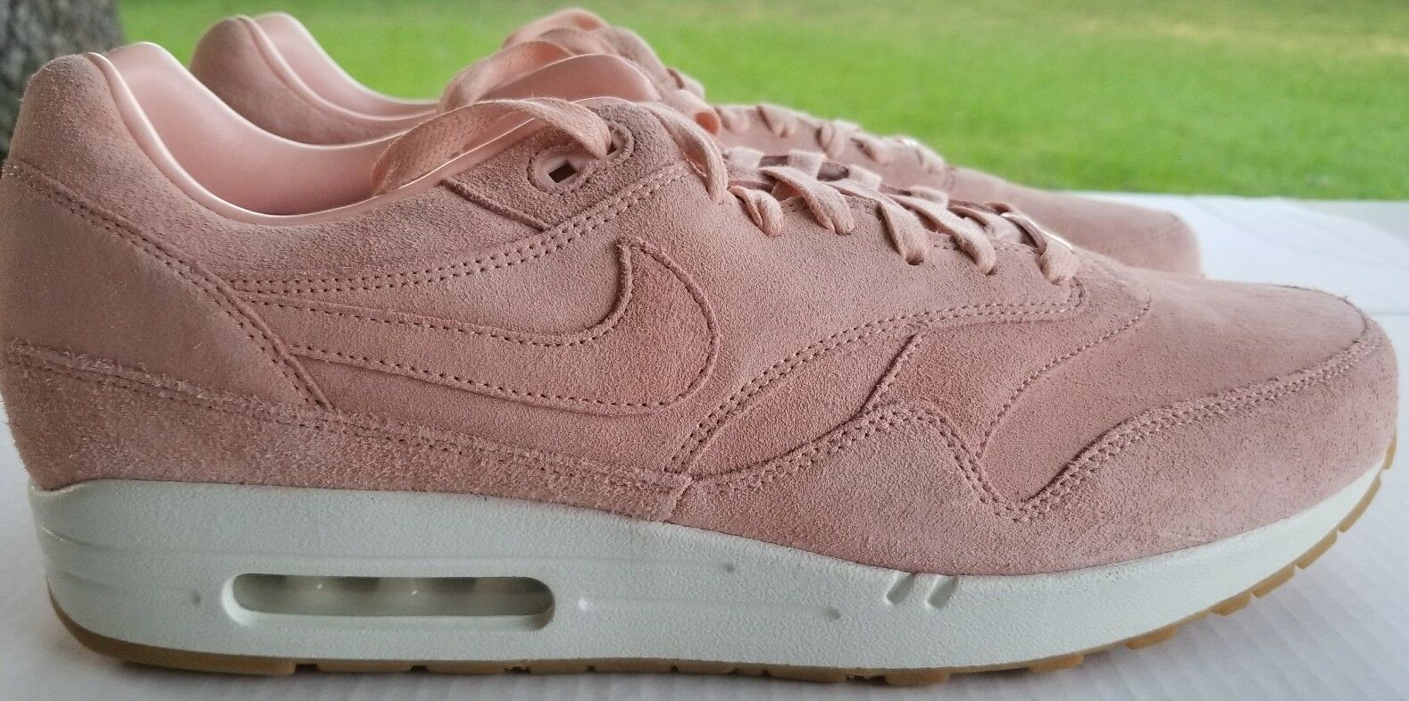 NIKE AIR MAX ONE PREMIUM ID PINK SUEDE SIZE 13 829357-993