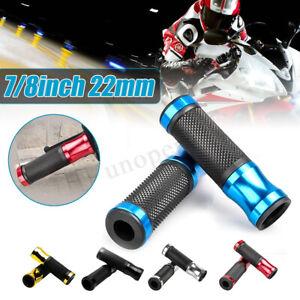 Coppia-Universal-7-8-034-22mm-Moto-Cnc-Manubrio-Manopole-Gomma-Alluminio-Hand-Grips