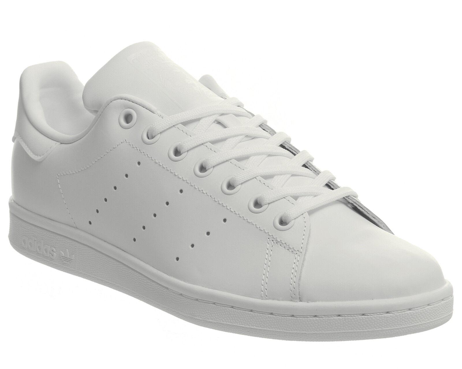 Da Uomo Adidas Stan Smith Scarpe da ginnastica Triplo Scarpe Da Ginnastica Bianco