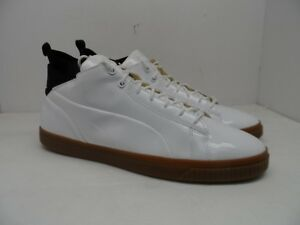 4ab7380e96dda9 PUMA Men s Play Nude Patent Leather Casual Shoe Trainers White Size ...