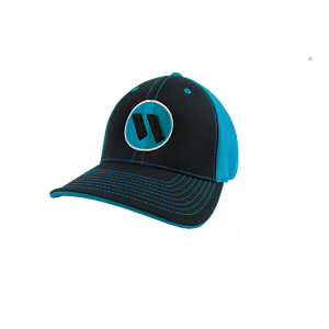 NEW Worth Hat by Pacific 404M Black//Elec Blue//Black//White YOUTH 6 3//8-6 7//8