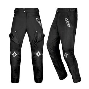 Pantaloni-Moto-Pantaloni-Tessile-Nero-incl-protezione-PROTEZIONI-TG-S-M-L-XL-XXL-XXXL