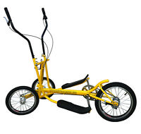 Yellow 8 Speed Aluminum Street Elliptical Bike Trainer Stable 3-wheel