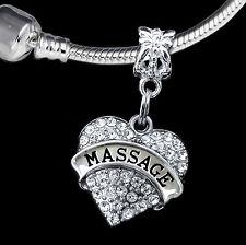 Massage charm  massage jewelry  European style  Masseuse gift