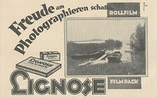 Y4945 Rollfilm und Filmpack LIGNOSE - Pubblicità d'epoca - 1927 Old advertising