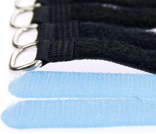 20 Serre-câbles Câble Velcro 30 cm x 20 mm Hell Bleu Velcro Velcro Serre-câbles œillet
