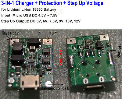 USB Step Up Board Power Li-ion 18650 Lithium Polymer Battery Charging Module