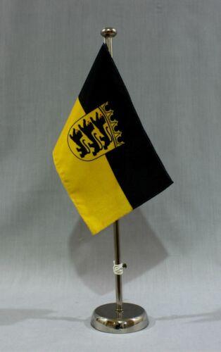 Table Flag Baden WГјrttemberg 25x15 cm with Chrome 44 cm Rack Chrome