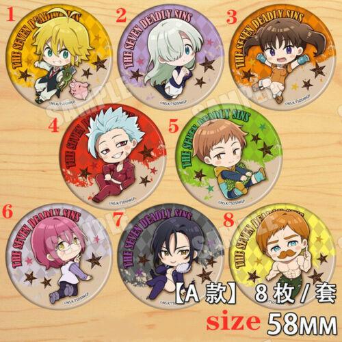 "Anime seven deadly sins badges Pins Schoolbag 5.8CM 2.3/"""