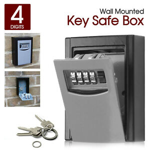 OUTDOOR-HIGH-SECURITY-WALL-MOUNTED-KEY-SAFE-BOX-CODE-SECURE-LOCK-STORAGE-4-Digit