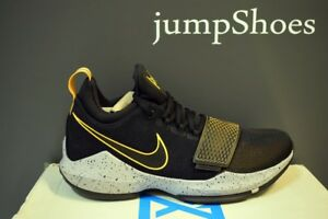 the best attitude 97526 28fe6 Details about Nike PG 1 paul george basketball shoes mens black yellow NEW  878627-006 size 7