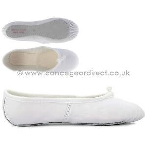 Completa Suela De Cuero Suave Ballet Zapatos De Baile Chicas Chicos señoras Danza Gear