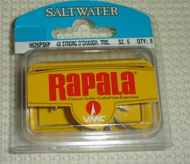 16 RAPALA VMC 9626 PERMASTEEL FISHING TACKLE TREBLE HOOKS CHOICE OF SIZE